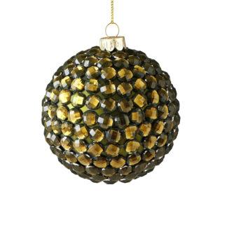 Weihnachtskugel 2er Set SEOUL GiftCompany Strasssteine grün ø 8 cm