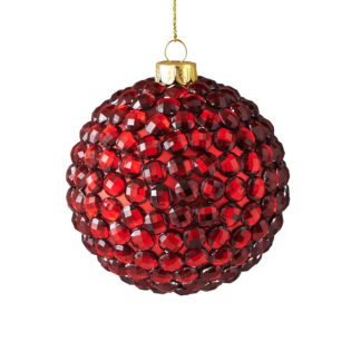 Weihnachtskugel Set SEOUL GiftCompany Strasssteine rot ø 8 cm