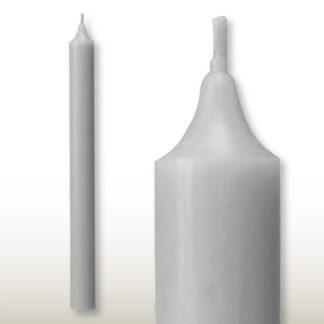Kerzen Set RUSTIC Stabkerzen silbergrau 35 x 2,8 | 25 x 2,2 cm