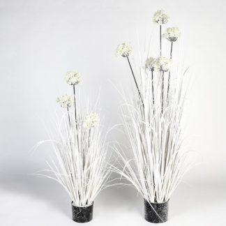 Kunstpflanze BISCHOFSKRAUT beschneit H 100 cm