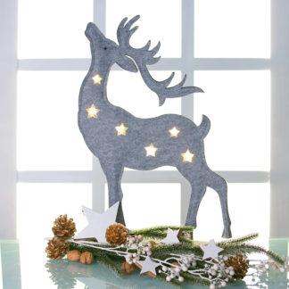 Weihnachtsdeko LED Rentier MIKA H 51 cm