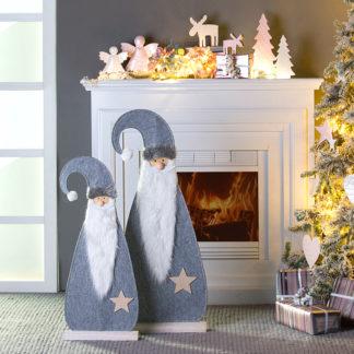 Weihnachtsdeko SANTA MATS Filz H 92 | 75 | 56 cm