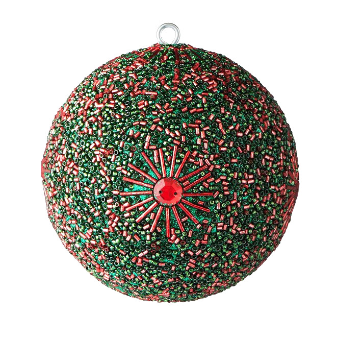 Weihnachtskugel 2er Set Rot / Grün
