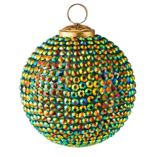 Weihnachtskugel Set SEOUL GiftCompany grosse Steine grün ø 10 cm