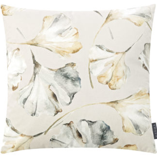 Kissen Magma FLORES Ginkgo hell 50 x 50 cm