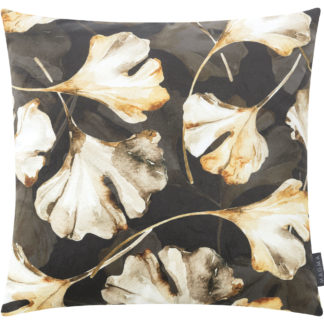 Kissen Magma FLORES Ginkgo dunkel 50 x 50 cm
