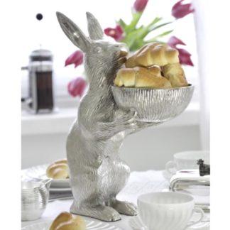 Dekofigur Hase mit Schale BERT Edzard H 31,5 cm