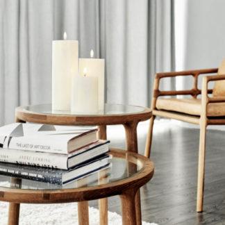LED Pillar Kerze UYUNI LIGHTING Piffany Copenhagen Ivory 8 x 20 | 8 x 15 cm