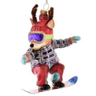 Weihnachtsbaumschmuck RENTIER M. SNOWBOARD GiftCompany H 14 cm