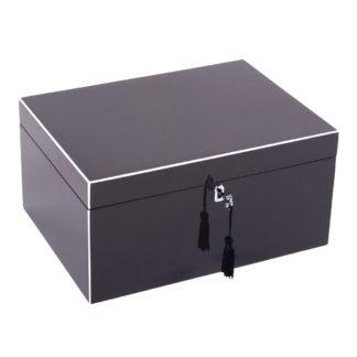 Schmuckkästchen Schmuckbox TANG GiftCompany Lack praline brown B 31 cm