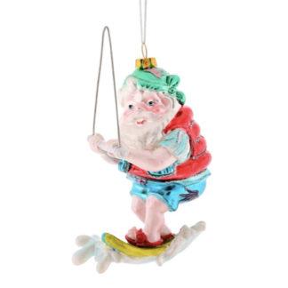 Weihnachtsbaumschmuck SANTA AUF WASSERSKI GiftCompany H 14 cm