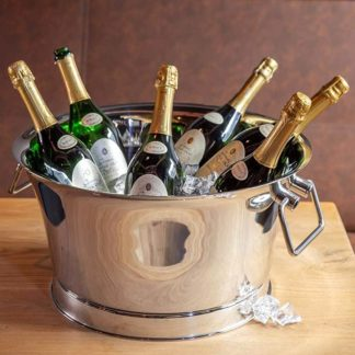 Champagnerkühler Edzard SAMU hochglanzpoliert ø 48 cm