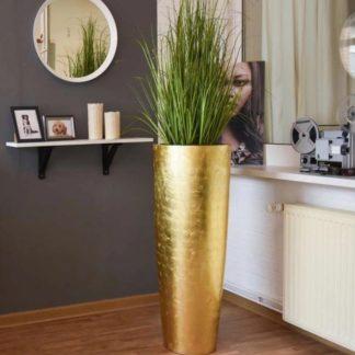 Bodenvase CHARLOTTE Hochglanz gold H 100 | 120 cm
