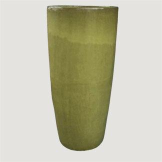 Bodenvase GLASURKERAMIK Limette H 90 cm