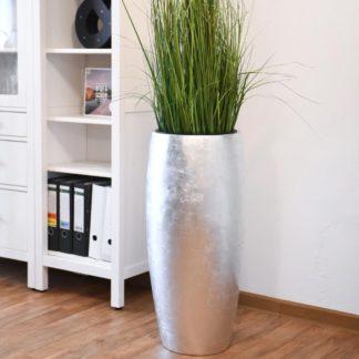Bodenvase CLARA Hochglanz silber Hochglanz H 80 cm