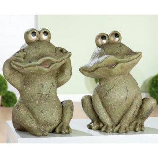 Dekofigur FROSCHPÄRCHEN Lutz & ANNI Casablanca H 43 cm