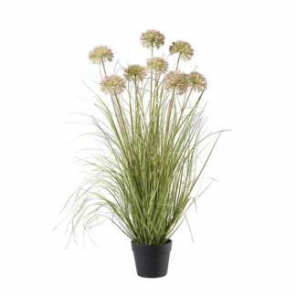 Kunstblume GRAS IM TOPF PFIRSICH H 94 cm