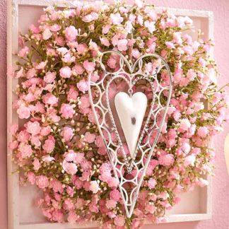 Kunstblume SEIDE GYPSO KRANZ pink ø 33 cm
