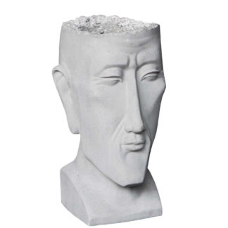 Pflanzgefäß Zement Kopf ARNE H 46 cm