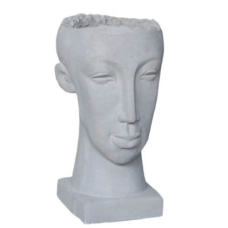 Pflanzgefäß Zement Kopf LUKE H 47 cm