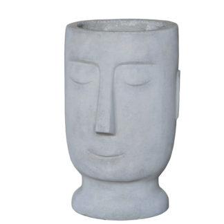 Pflanzgefäß Zement Kopf HARALD H 43 cm