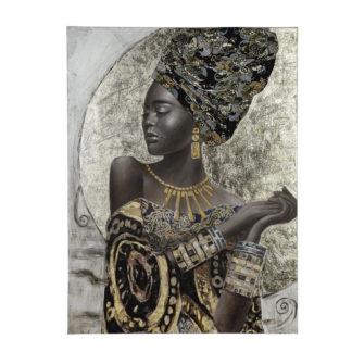"Leinwandbild auf Keilrahmen ""African Lady"" Casablanca 90 x 120 cm"