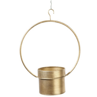 Pflanzgefäß METALL TOPF zum hängen gold H 45 | 47 cm