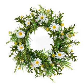 Kunstblume Blumenkranz GÄNSEBLÜMCHEN creme ø 30 cm