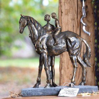Skulptur CONFIDENCE Casablanca bronzefarben H 25 cm