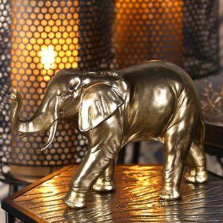 Dekofigur Elefant JUMBO Casablanca goldfarben B 20 | 39 cm