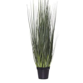 Kunstblume GRAS im Topf dunkelgrün 40x107 cm