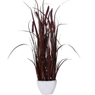 Kunstblume GRAS im Topf dunkelrot 20x90 cm