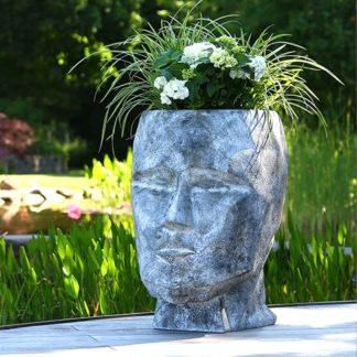 Pflanzkübel HEAD Casablanca grau gewischt H 71 cm