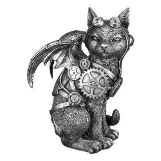 Skulptur STEAMPUNK CAT Casablanca H 24 cm