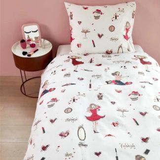 Kinderbettwäsche 135x200 cm FASHION pink Beddinghouse Kids