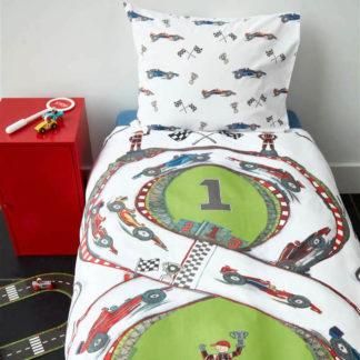 Kinderbettwäsche 135x200 cm RACE TRACK multi Beddinghouse Kids
