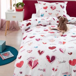 Kinderbettwäsche 135x200 cm SWEET LOVE pink Beddinghouse Kids