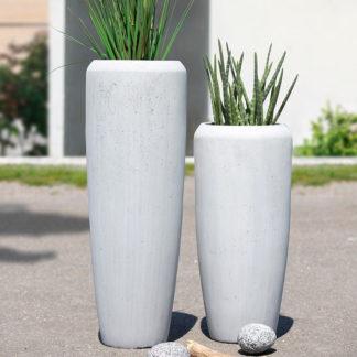 Bodenvase CREASTO BIGIO Casablanca beton grau H 75 | 97 cm