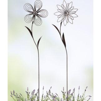 Gartenstecker Set Blume FLOREALE Casablanca H 110 cm