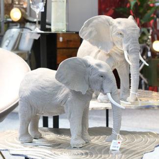 Figur ELEFANT Keramik Casablanca grau B 38 | 47cm