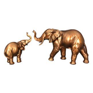 Figur Elefant JUMBO Casablanca bronzefarben B 20 | 39 cm