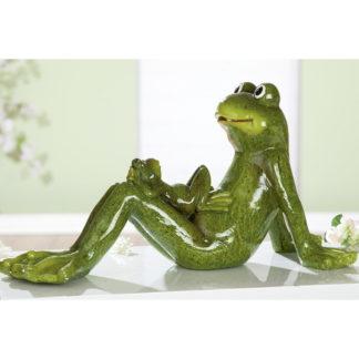 Figur Frosch FRED mit FREDDY Casablanca B 51 cm