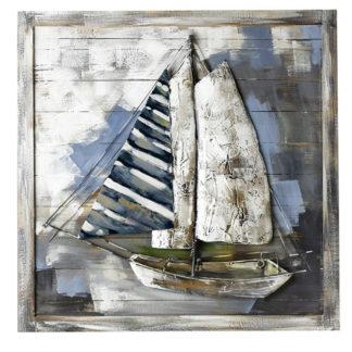 Leinwandbild aus Holz ADMIRALS CUP 3D Casablanca 80 x 80 cm