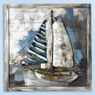 Leinwandbild aus Holz ADMIRALS CUP 3D 80 x 80 cm