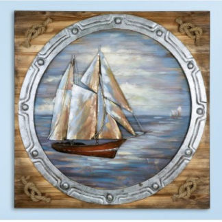 Leinwandbild aus Holz BULLAUGE 3D 80 x 80 cm