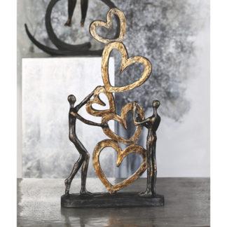 Skulptur HERZ AUF HERZ Casablanca H 41 cm
