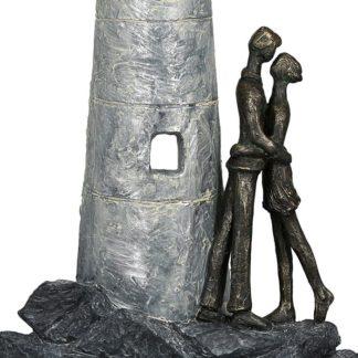 Skulptur LEUCHTTURM Casablanca bronze H 29 cm