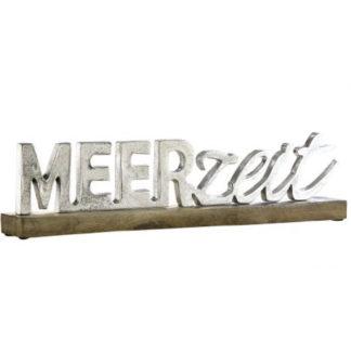 Skulptur Schriftzug M E E R Z E I T Auf Fuss B 48 Cm 1 324x324