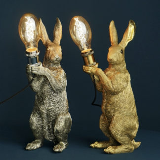 Tischlampe MEISTER LAMPE Werner Voss silber   gold H 48 cm