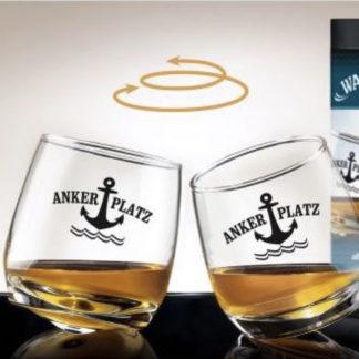 Glas Wackelglas 2er-Set ANKER PLATZ 0,2 l